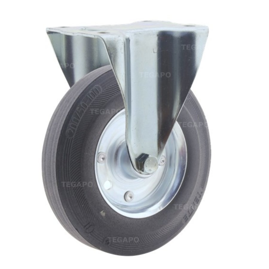 Bokwiel rubber 200 3SO plaat
