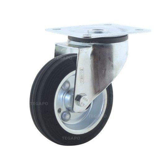 Zwenkwiel rubber 100 3SO plaat