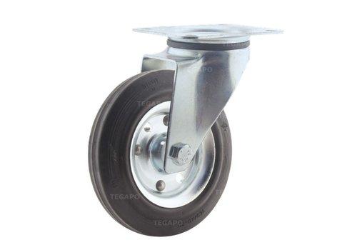 Zwenkwiel rubber 160 3SO plaat