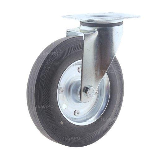 Zwenkwiel rubber 200 3SO plaat