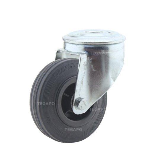 Zwenkwiel rubber 100 3KO boutgat