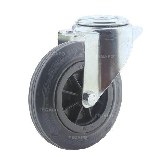 Zwenkwiel rubber 160 3KO boutgat