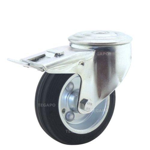 Zwenkwiel rubber 100 3SO boutgat met rem
