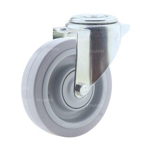 Zwenkwiel elastisch rubber 160 3KO boutgat
