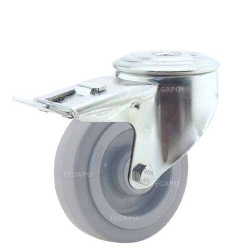 Zwenkwiel elastisch rubber 100 3KO boutgat met rem