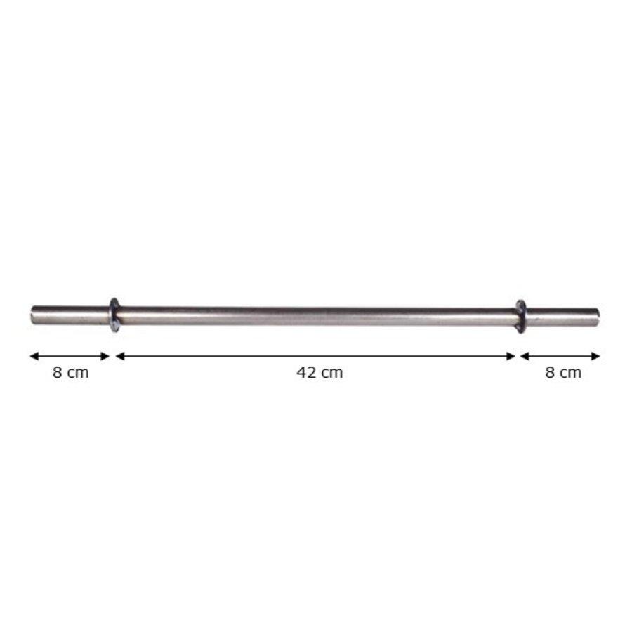 Metalen as 60cm met steunring