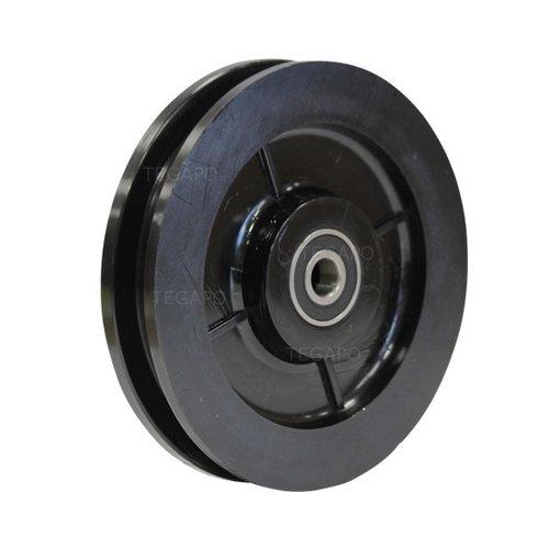 Groefwiel 140mm naaflengte 35mm kogellager