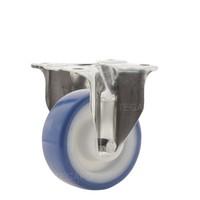 Bokwiel RVS 80 nylon NOC blauw plaatbevestiging