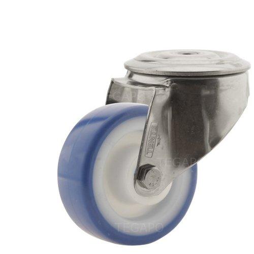 Zwenkwiel RVS 80 nylon NOC blauw boutgat