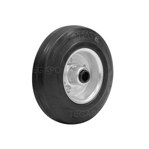 Rubber wiel 125mm 3SO rollager asgat 12mm