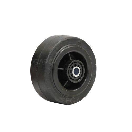 Rubber wiel 80mm 3KO rollager asgat 8mm