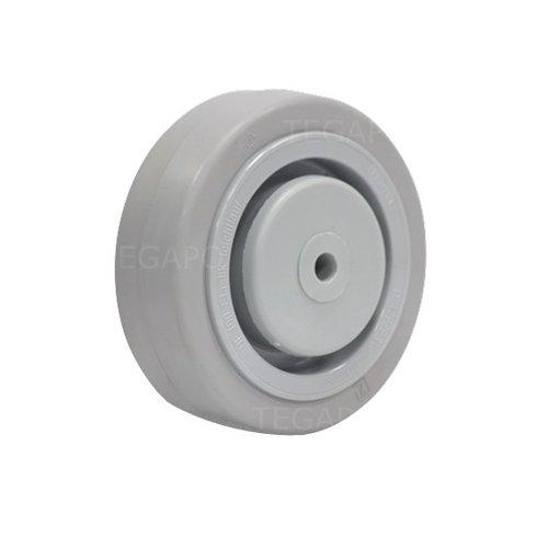 Elastisch rubber wiel 100mm 3KO kogellager asgat 8mm