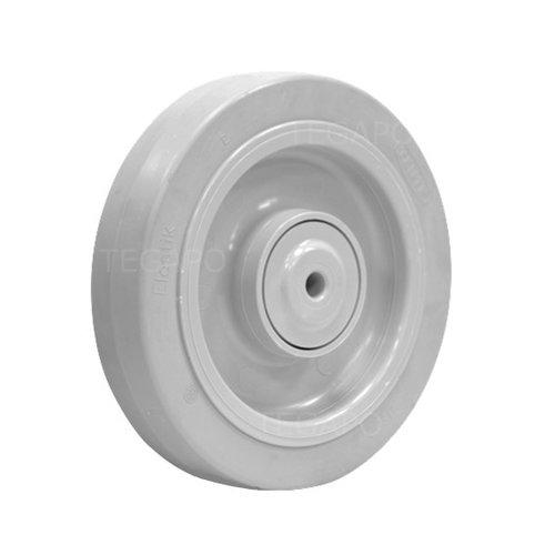 Elastisch rubber wiel 200mm 3KO kogellager asgat 12mm