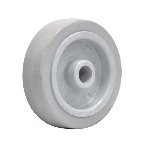 Elastisch rubber wiel 125mm 3KO asgat 20mm