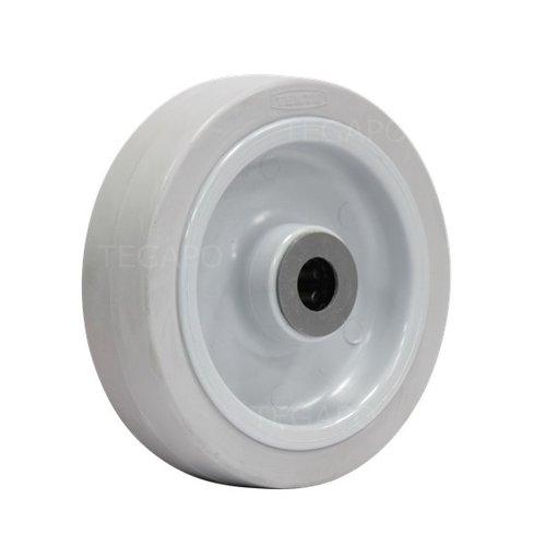 Elastisch rubber wiel 160mm 3KO rollager asgat 20mm
