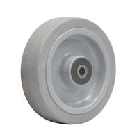 Elastisch rubber wiel 160mm 3KO rollager asgat 12mm