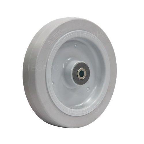 Elastisch rubber wiel 200mm 3KO rollager asgat 12mm