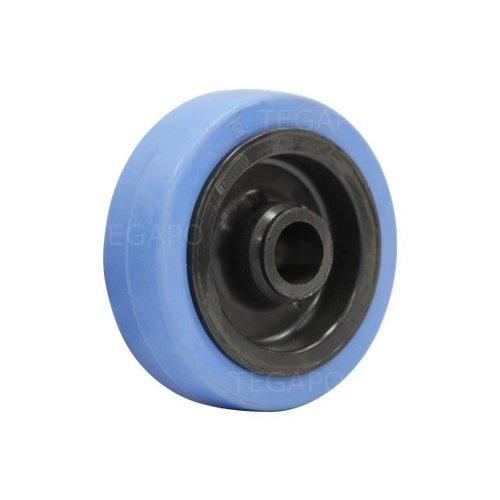 Elastisch rubber wiel blauw 100mm 3KO asgat 20mm