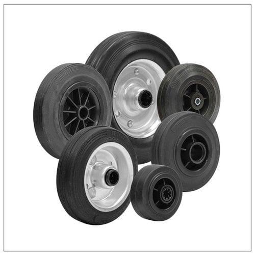 Rubber wielen zwart