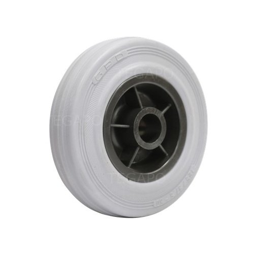 Rubber indoor wiel 125mm 3KO asgat 20mm