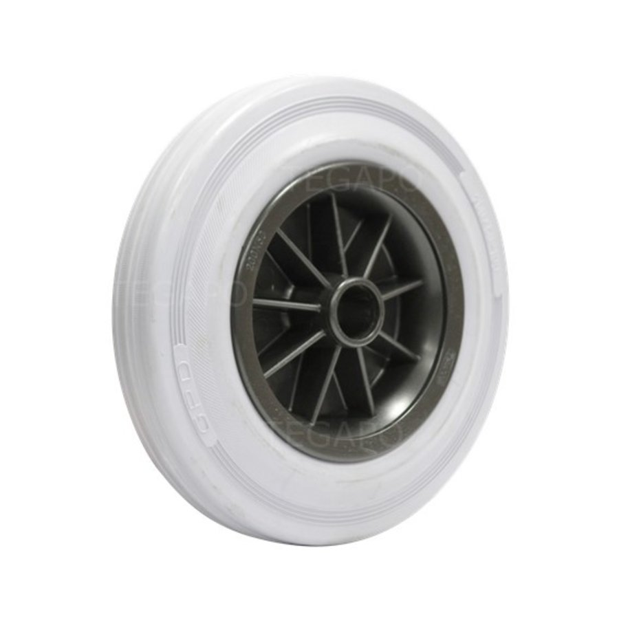 Rubber indoor wiel 200mm 3KO asgat 23mm