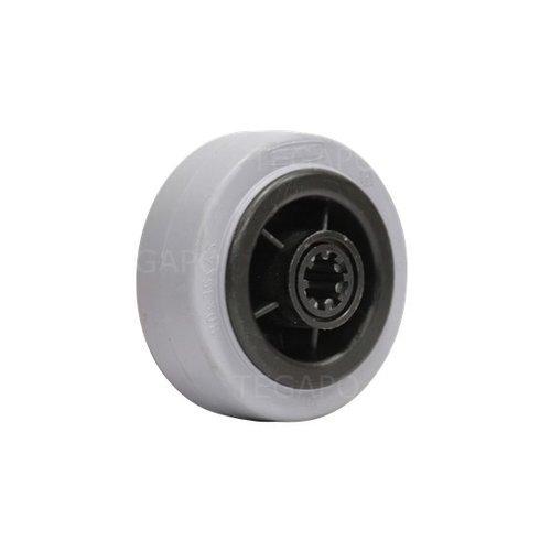 Rubber indoor wiel 80mm 3KO rollager asgat 12mm