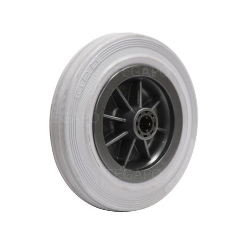 Rubber indoor wiel 160mm 3KO rollager asgat 20mm