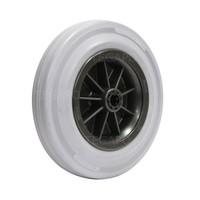 Rubber indoor wiel 200mm 3KO rollager asgat 20mm