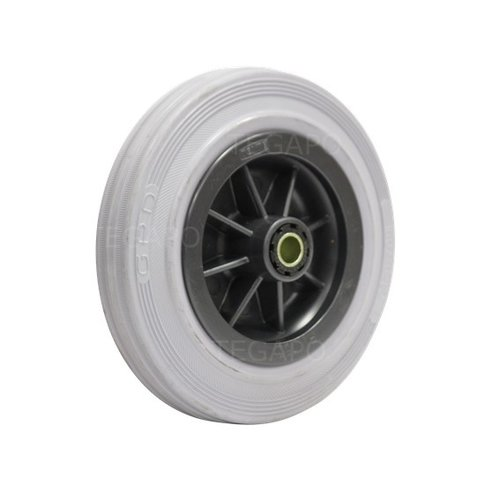 Rubber indoor wiel 160mm 3KO rollager asgat 12mm