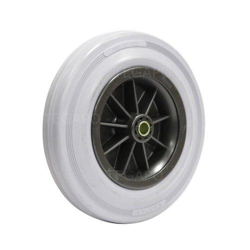 Rubber indoor wiel 200mm 3KO rollager asgat 12mm
