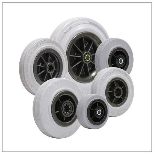 Rubber wielen grijs indoor