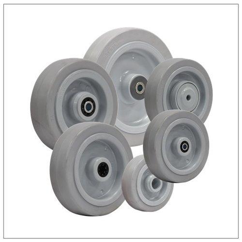 Elastisch rubber wielen grijs