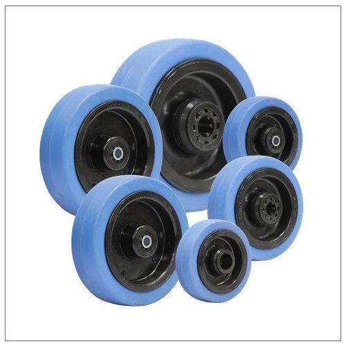 Elastisch rubber wielen blauw