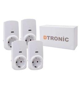 DTRONIC Slimme stekker WLSC01 - 4st. Inclusief App | DTRONIC - Starterkit