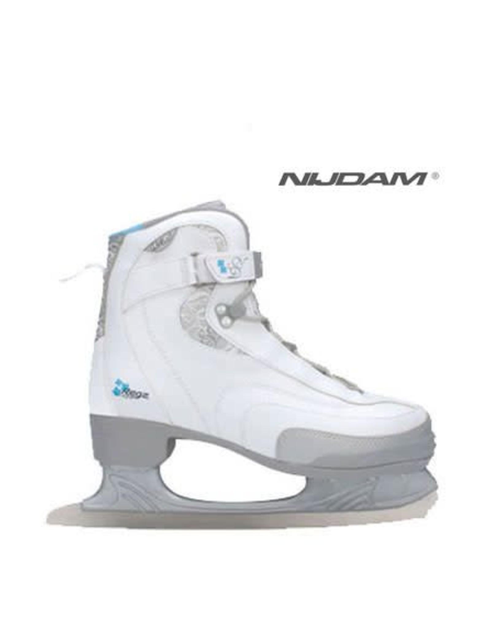 NIJDAM NIJDAM 035 KUNSTSCHAATSEN Softboot Wit/Zilver/Blauw