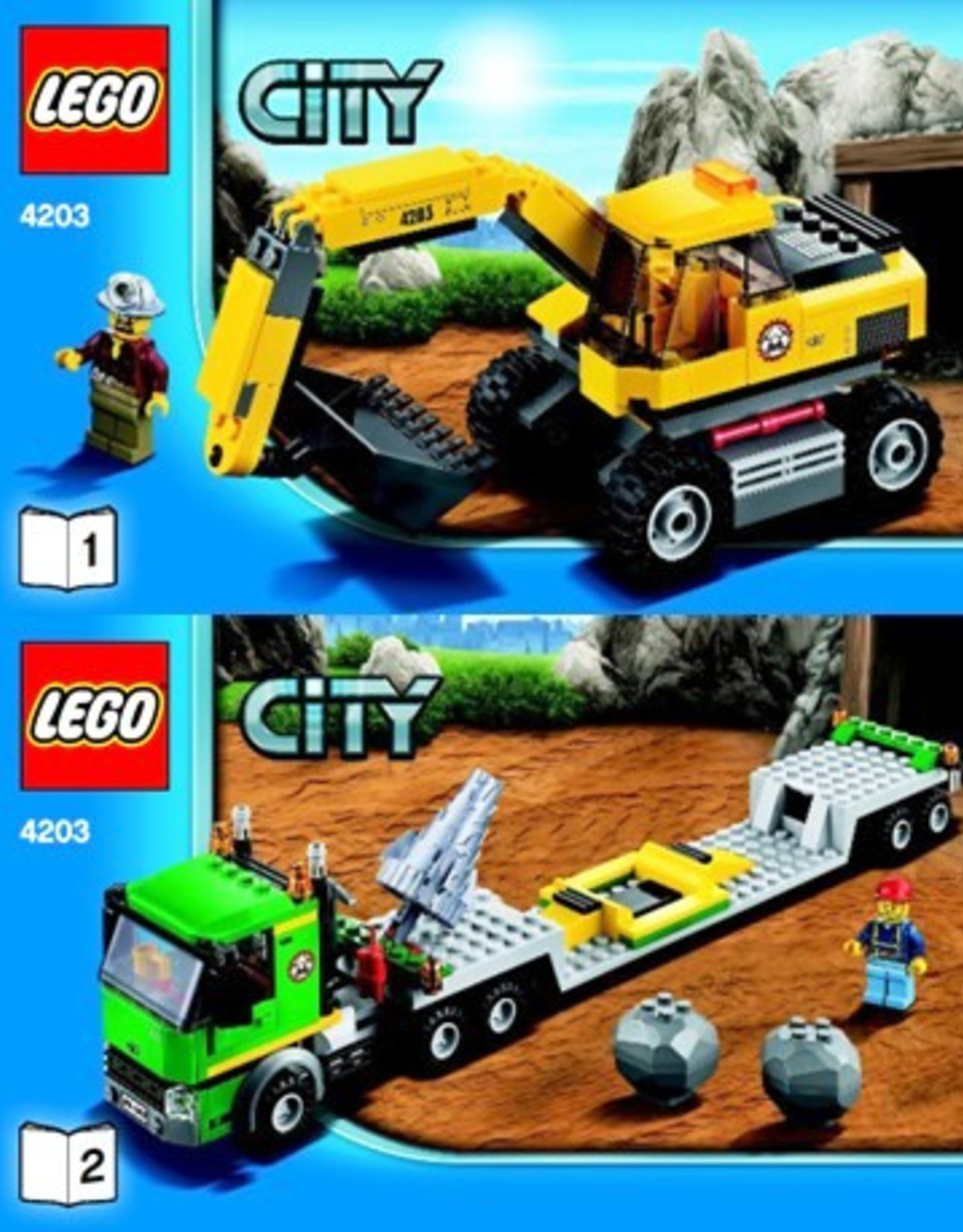 LEGO LEGO 4203 Transporter met graafmachine CITY