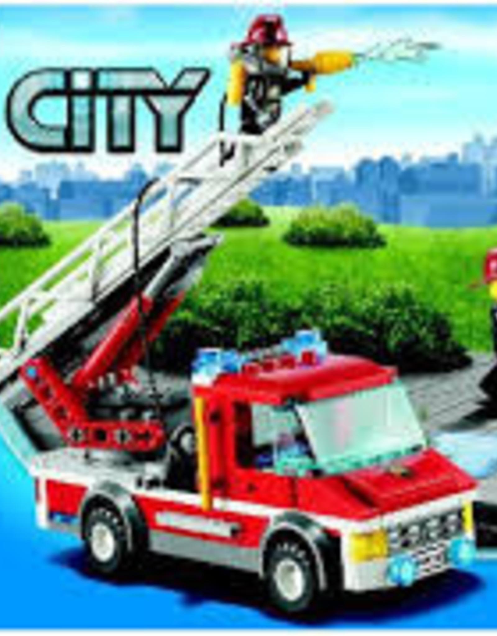 LEGO LEGO 60003 Brandweerauto met brandend huis CITY