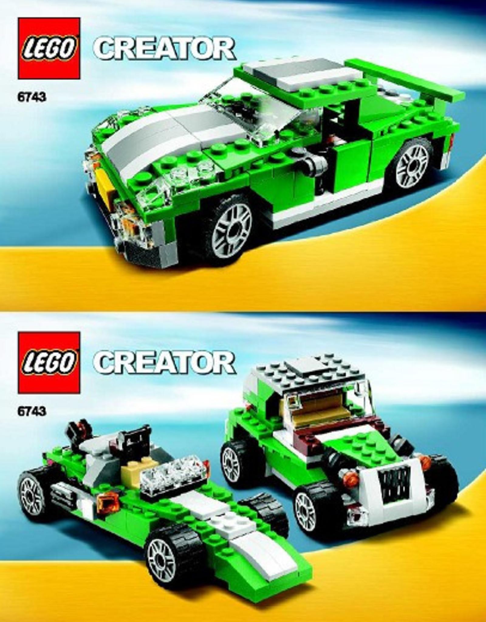 LEGO LEGO 6743 Groene race auto - sportwagen CREATOR