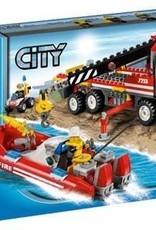 LEGO LEGO 7213 Offroad brandweerwagen en boot CITY