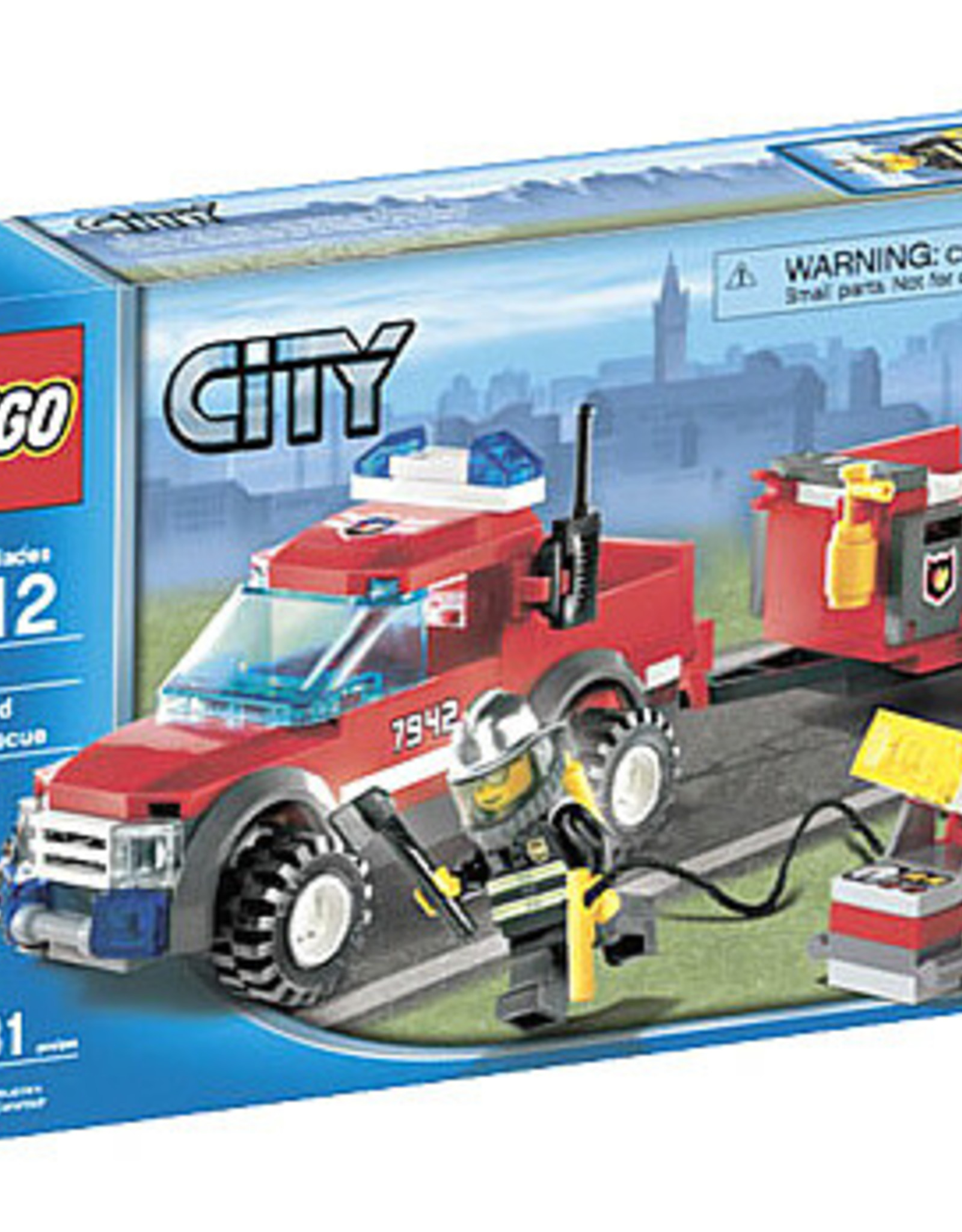 LEGO LEGO 7942 Brandweerauto + aanhanger CITY