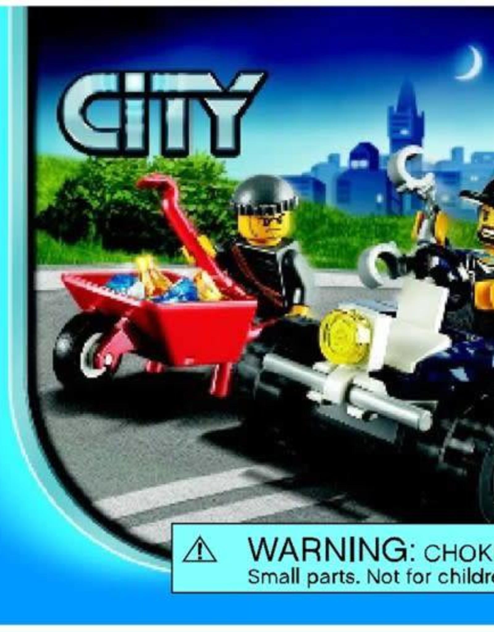 LEGO LEGO 60006 Inbreker met kruiwagen  + politie quad CITY