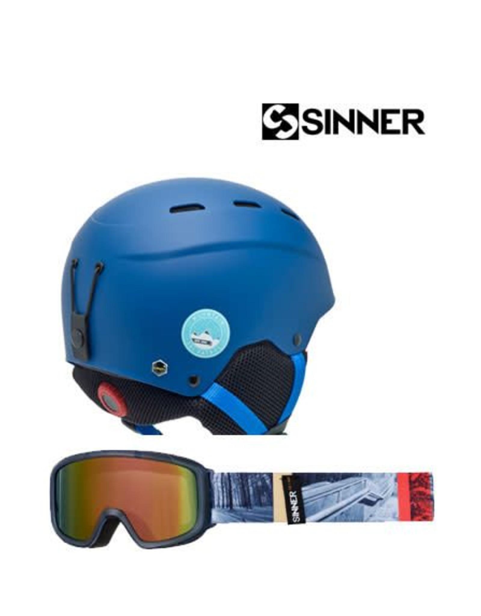 SINNER Skihelm Sinner Poley Mat Blue