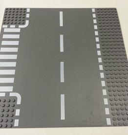 LEGO 44341 Wegplaat T-SPLITSING, Antraciet, 32x32 gebruikt
