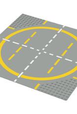 LEGO LEGO 6099 Wegplaat LANDINGSPAD-GELE CIRKEL, lichtgrijs,32x32,gebruikt