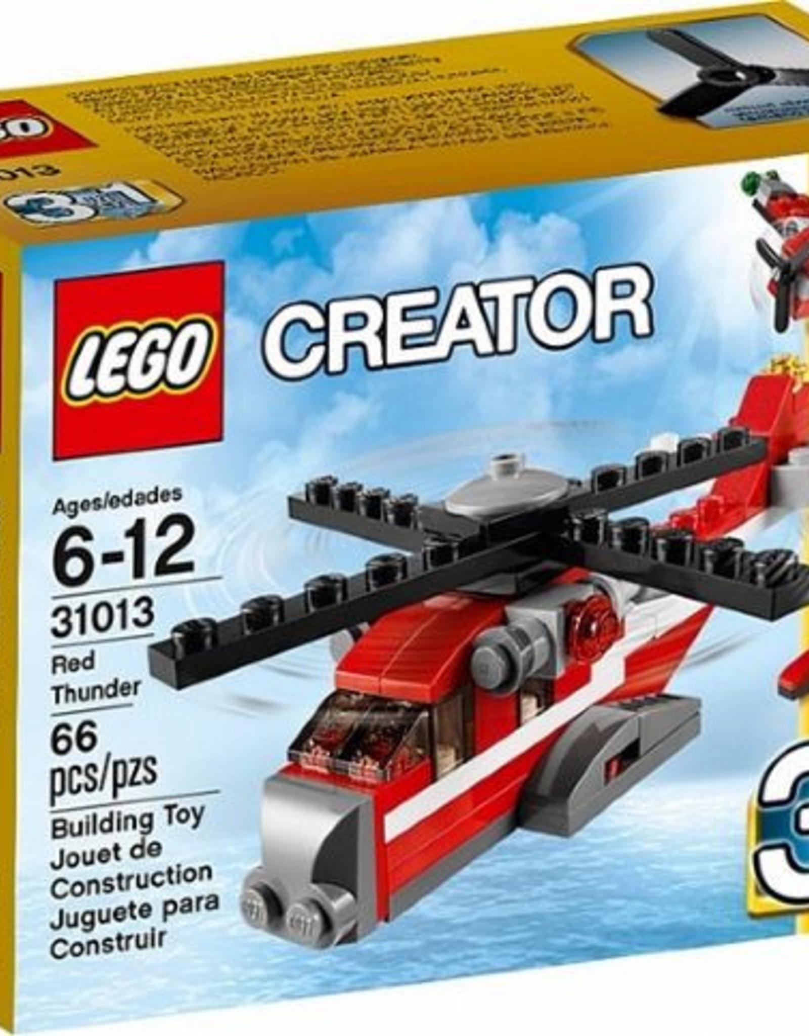 LEGO LEGO 31013 Rode Thunder helicopter CREATOR