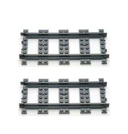 LEGO Lego Rails  Recht 2x GEBRUIKT