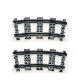 LEGO Lego Rails Bocht 2x GEBRUIKT
