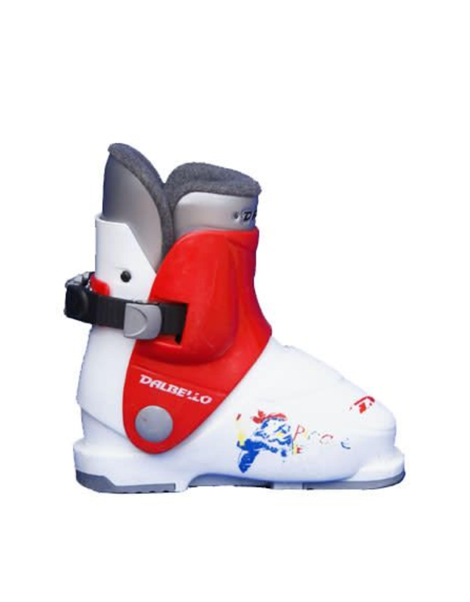 DALBELLO Skischoenen DALBELLO Pirates (rd/wit) Gebruikt 26 (mondo 16.5)