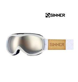 SINNER SKIBRIL TOXIC-S Mat white (mirror lens) Jr.