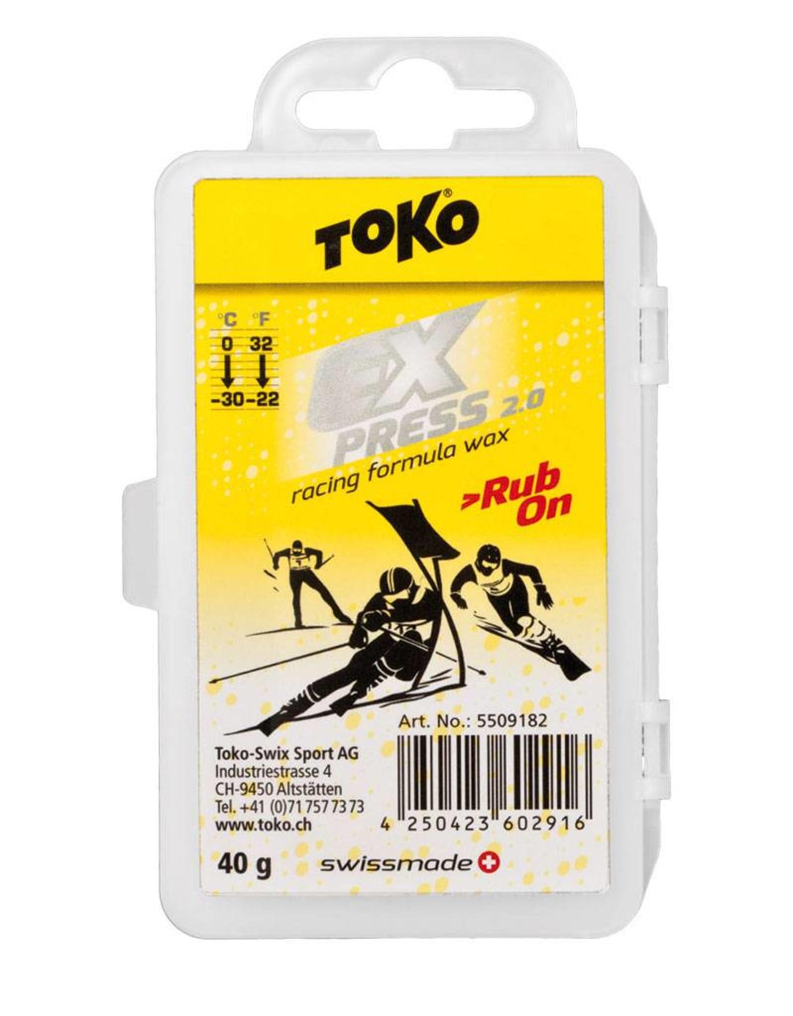 TOKO Toko Express Racing Rub on Wax 40g (0 °C / -30 °C)